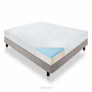 lucid gel memory foam mattress
