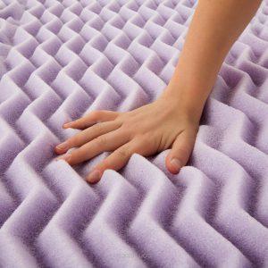lucid lavender memory foam mattress topper